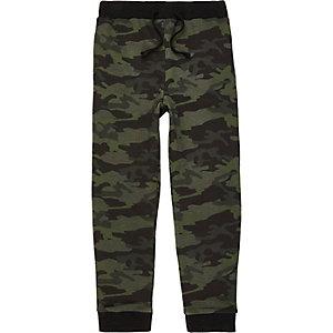 Kaki joggingbroek met camouflageprint voor jongens