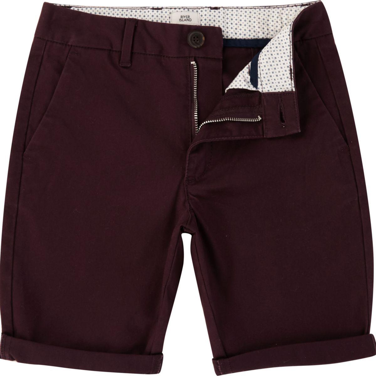 Boys purple chino shorts