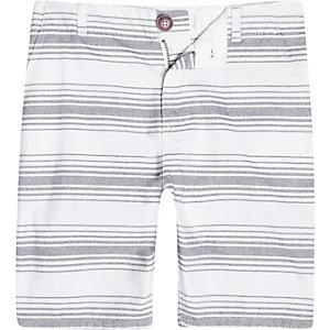 Boys white stripe chino shorts