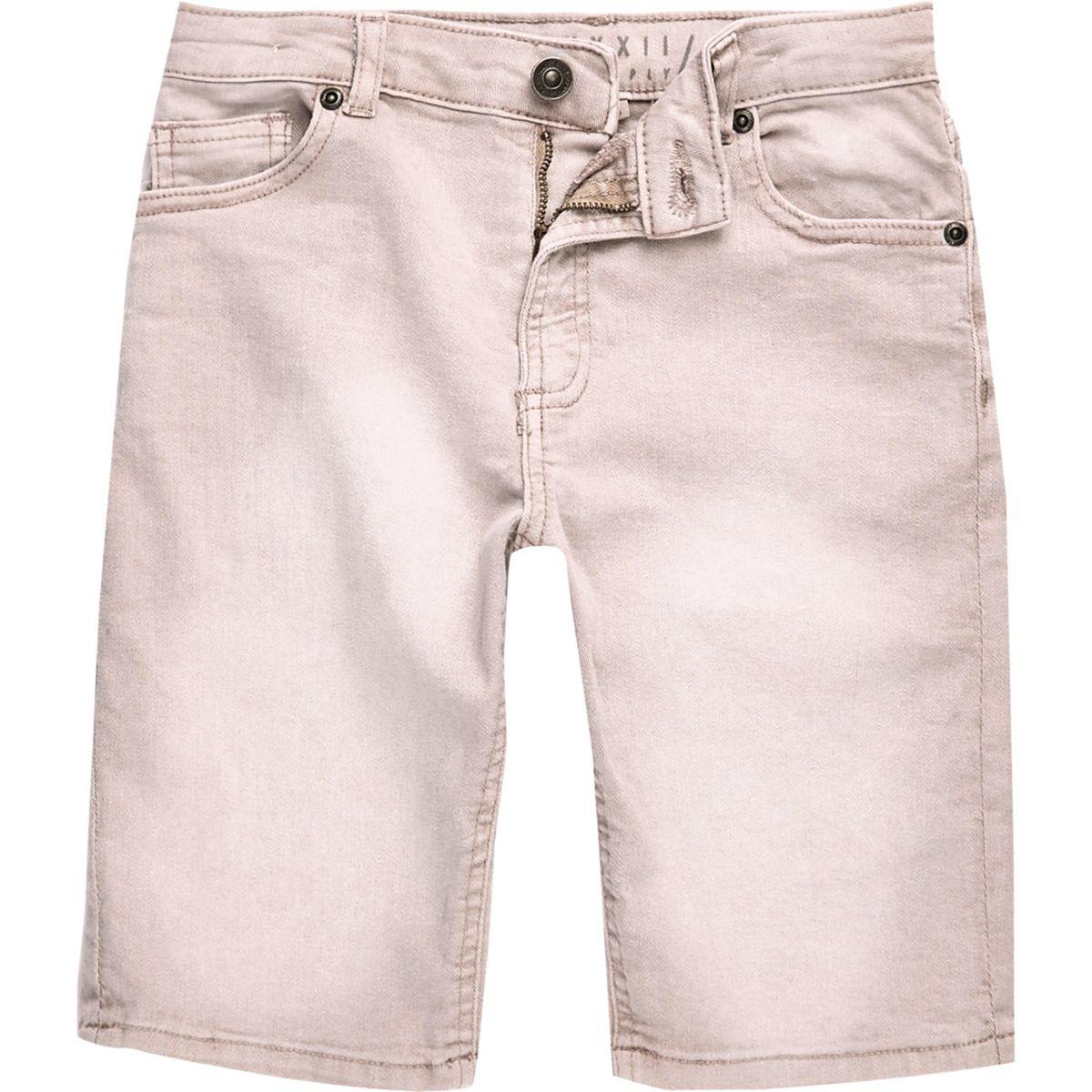 Boys pink denim Dylan slim fit shorts