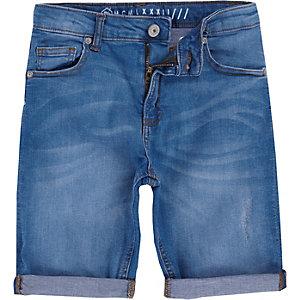 Dylan – Mittelblaue Jeansshorts