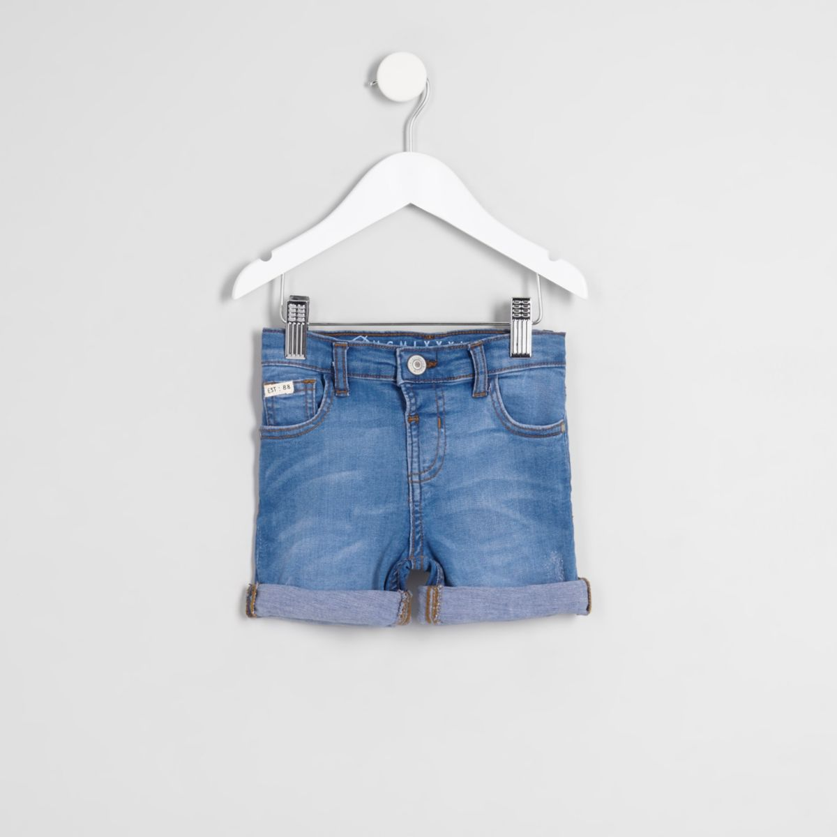 Mini boys mid blue Dylan denim shorts