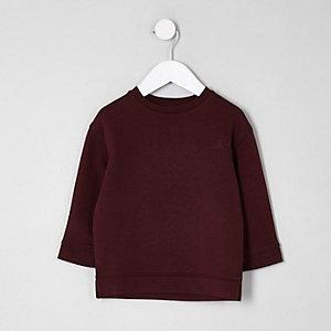 Sweatshirt in Bordeaux mit Print