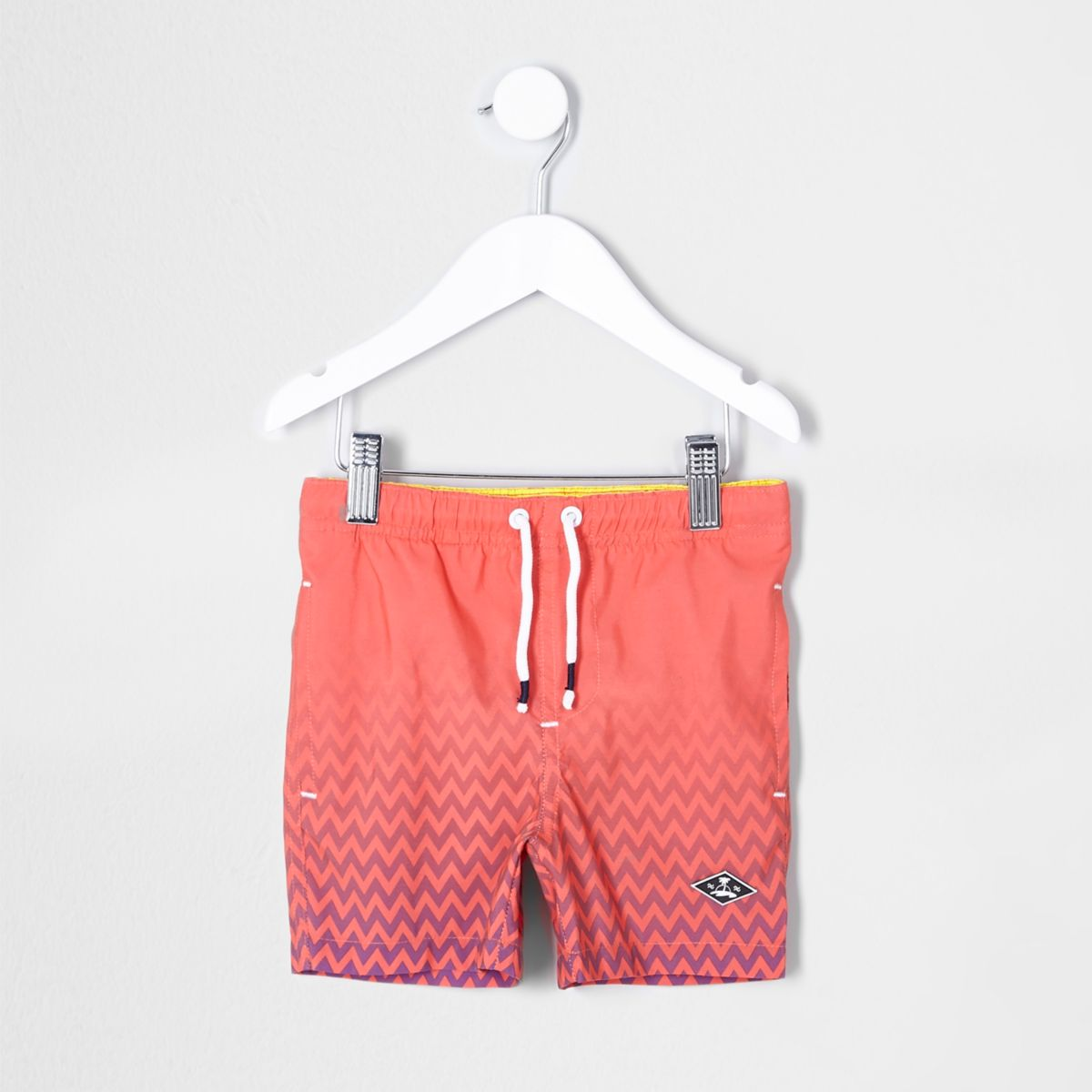 Mini boys coral fade print swim trunks