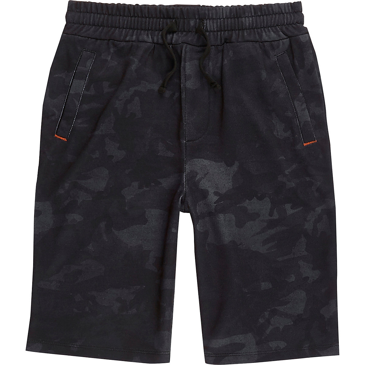 Boys navy camo jersey shorts