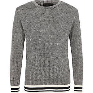 Boys black tipped jumper