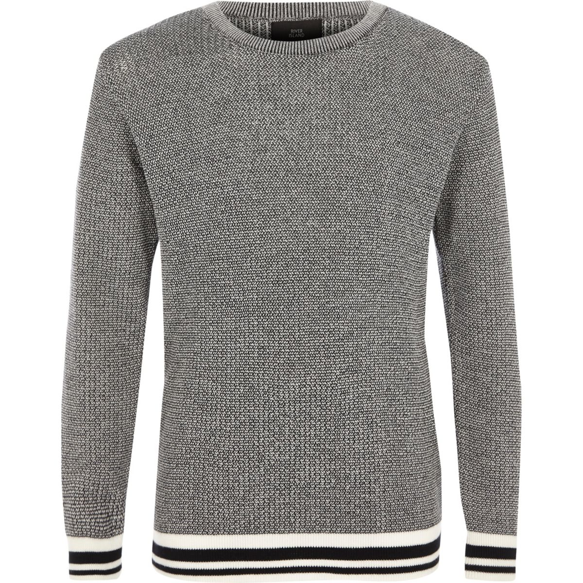 Boys black tipped sweater