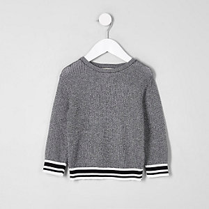 Mini boys black tipped jumper