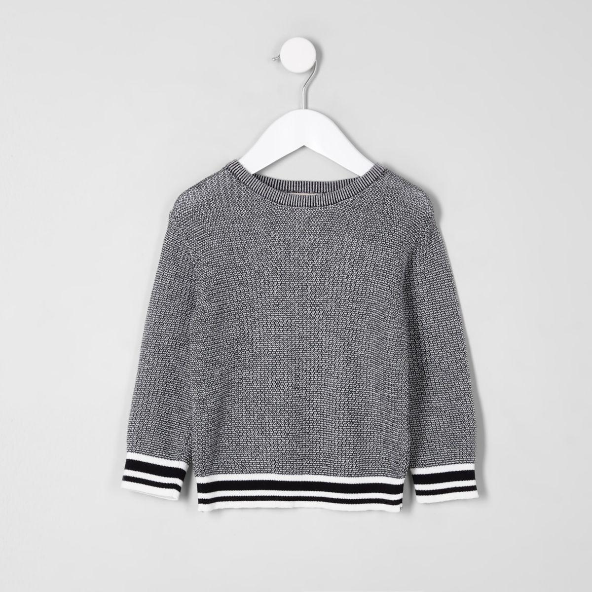 Mini boys black tipped sweater