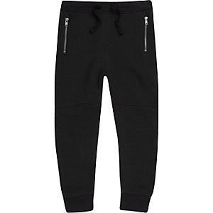 Zwarte joggingbroek met inzetstuk voor jongens