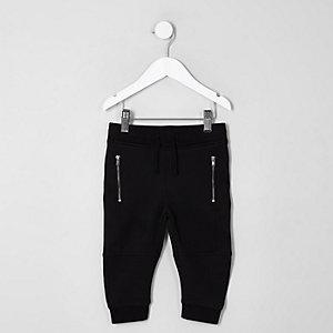 Pantalon de jogging noir à empiècement mini garçon