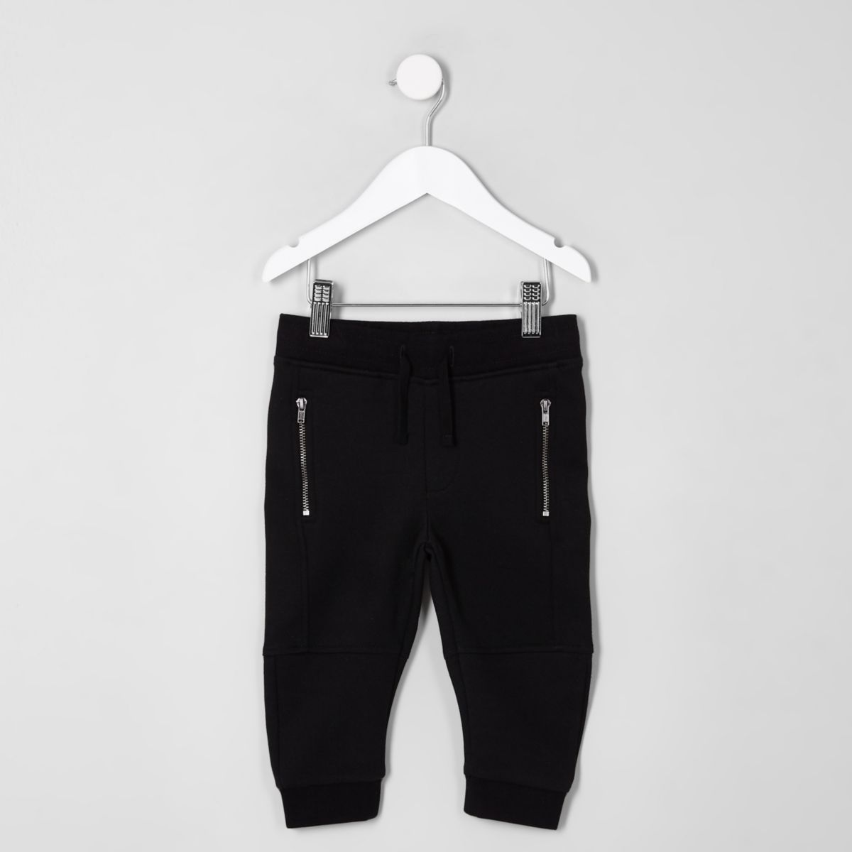 Mini boys black panel joggers
