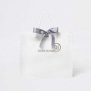 Ensemble petit sachet cadeau blanc