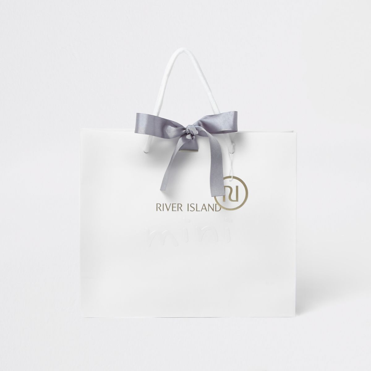 Mini white gift bag set