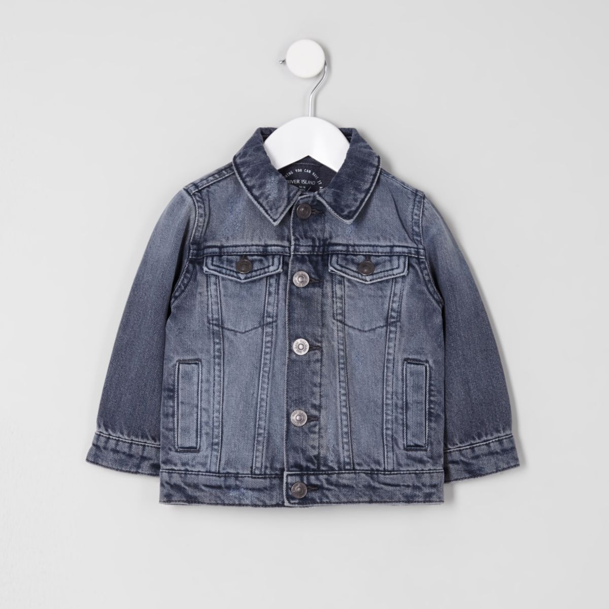 Mini boys mid grey denim jacket