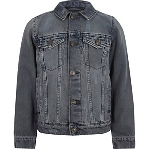 Veste en jean gris moyen pour garçon