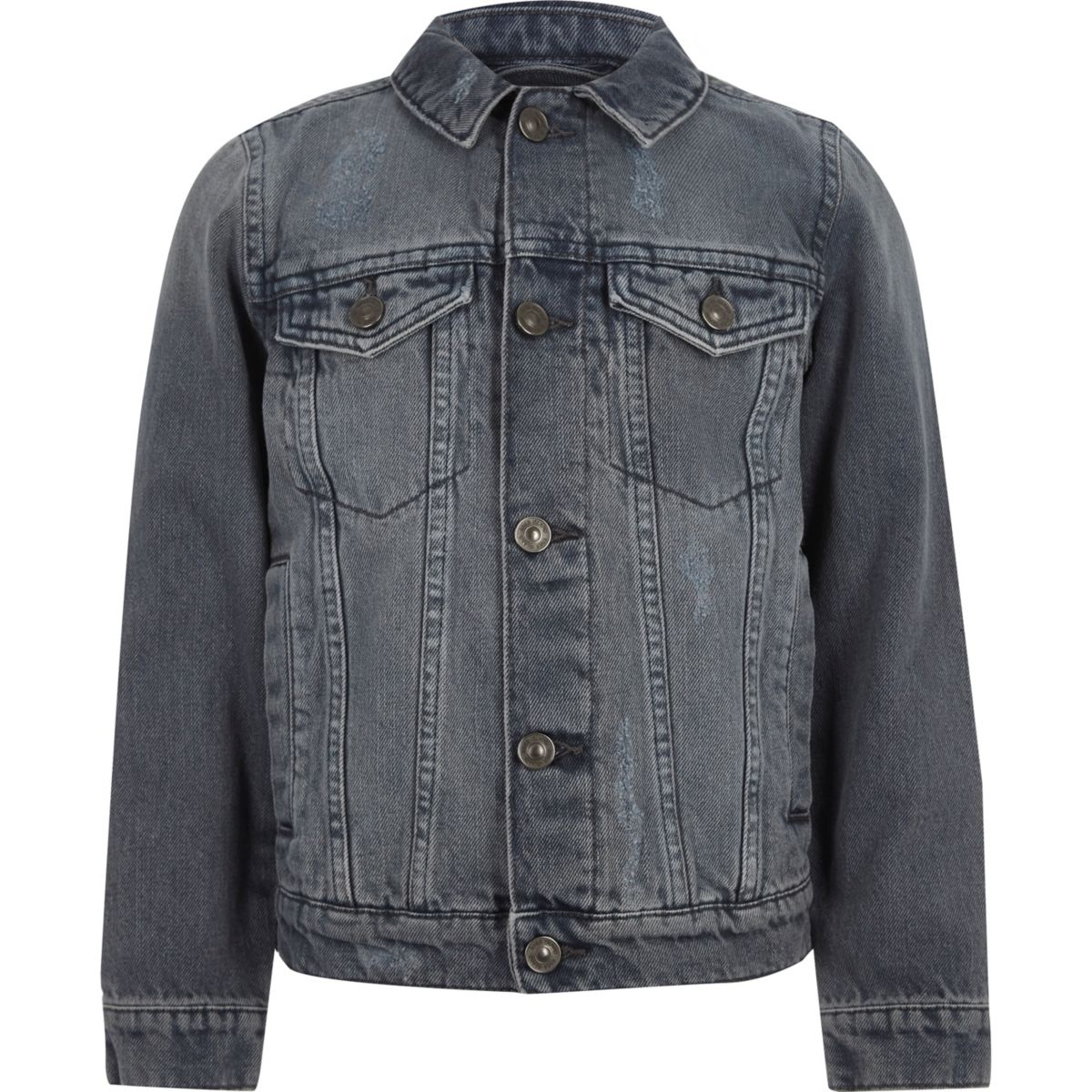 Boys mid grey denim jacket