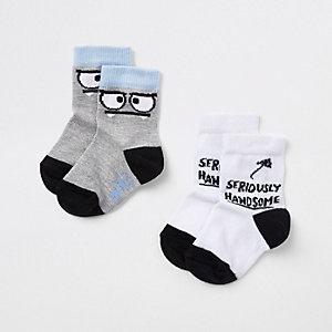 """Weiße Socken """"handsome"""" im Set"""