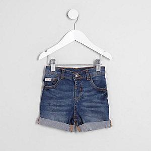 Dylan – Short en jean bleu à revers mini garçon