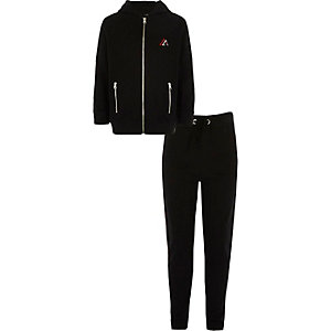 Boys black 'New York City' tracksuit