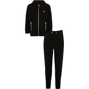 Outfit met zwarte hoodie met 'New York City'-print voor jongens