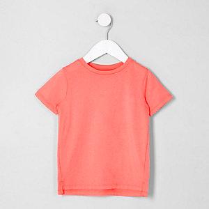 Mini - Koraalroze T-shirt met korte mouwen voor jongens