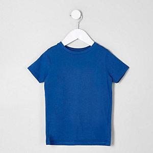 Mini - Blauw T-shirt met ronde hals voor jongens