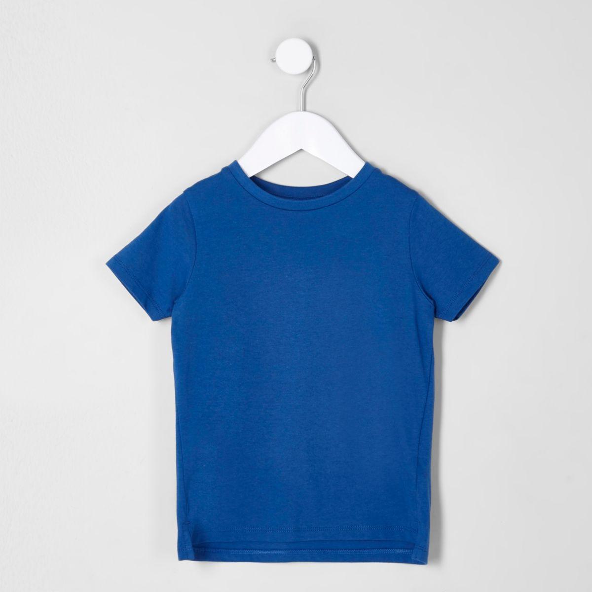 Mini boys blue crew neck T-shirt