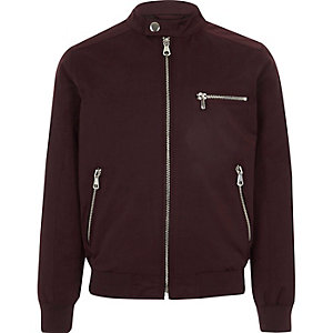 Boys burgundy racer jacket