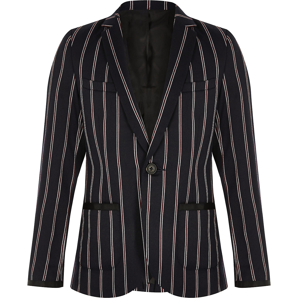 Boys navy stripe blazer