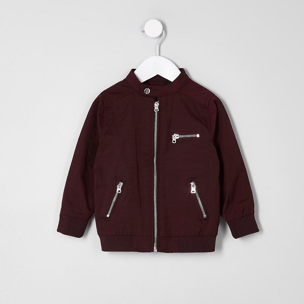 Mini boys burgundy racer jacket