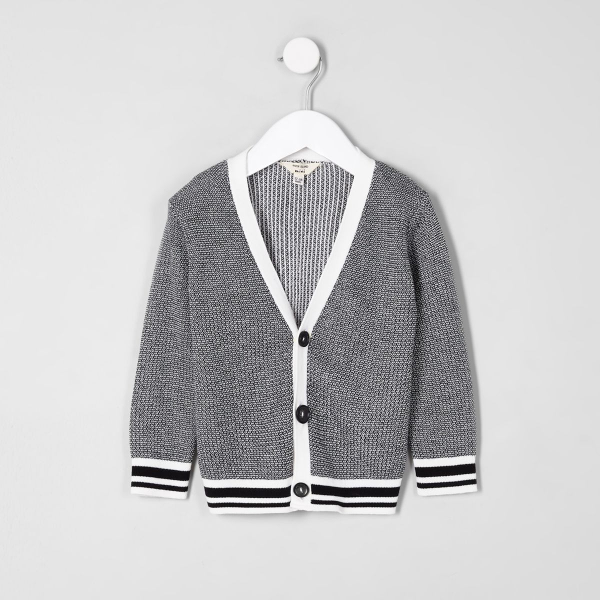 Mini boys black tipped cardigan