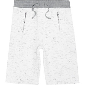 Boys white quilted shorts