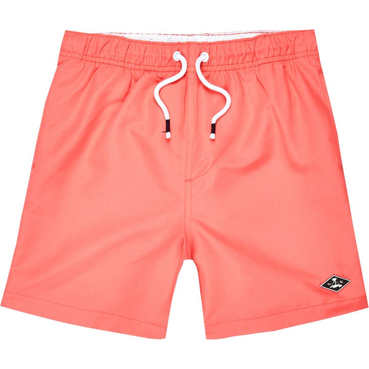 Boys coral swim trunks