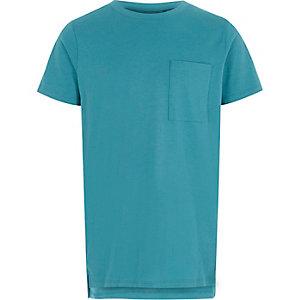 Türkises T-Shirt mit Tasche
