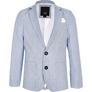 Blauwe gestreepte double-breasted blazer voor jongens