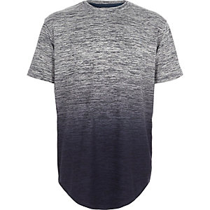 T-shirt bleu chiné dégradé pour garçon