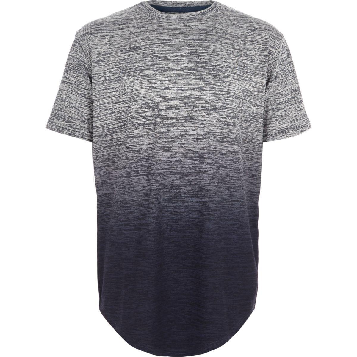 Boys blue grindle ombre T-shirt