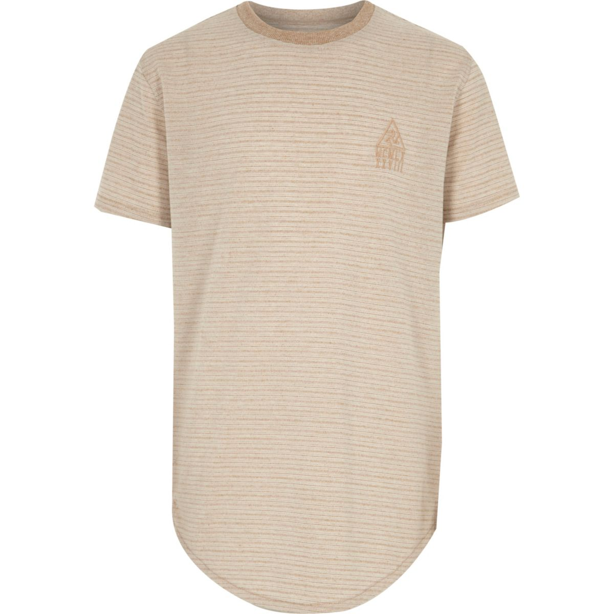Boys stone embroidered short sleeve T-shirt