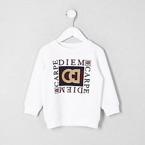 Mini - Sweatshirt met 'Carpe diem'-print voor jongens