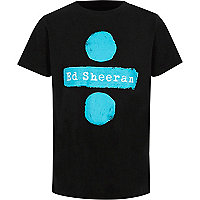 Boys black Ed Sheeran print T-shirt