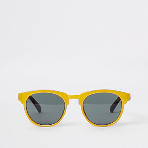 Mini kids yellow flat brow sunglasses