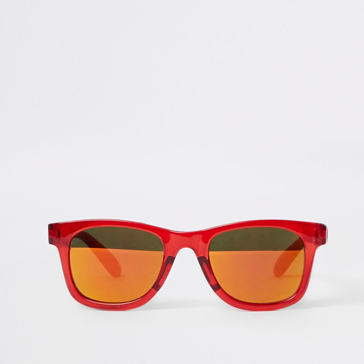 Mini kids red retro sunglasses