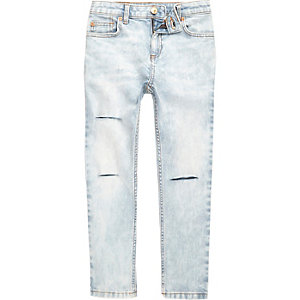 Sid - Lichtblauwe ripped skinny jeans voor jongens