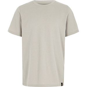 T-shirt gris gaufré ras-du-cou pour garçon