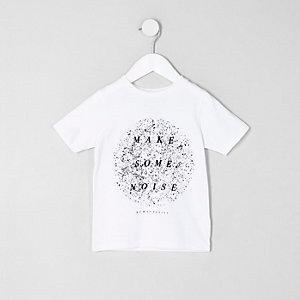 T-shirt «make some noise» blanc mini garçon