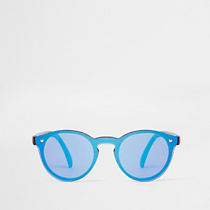 Mini boys blue reflective retro sunglasses