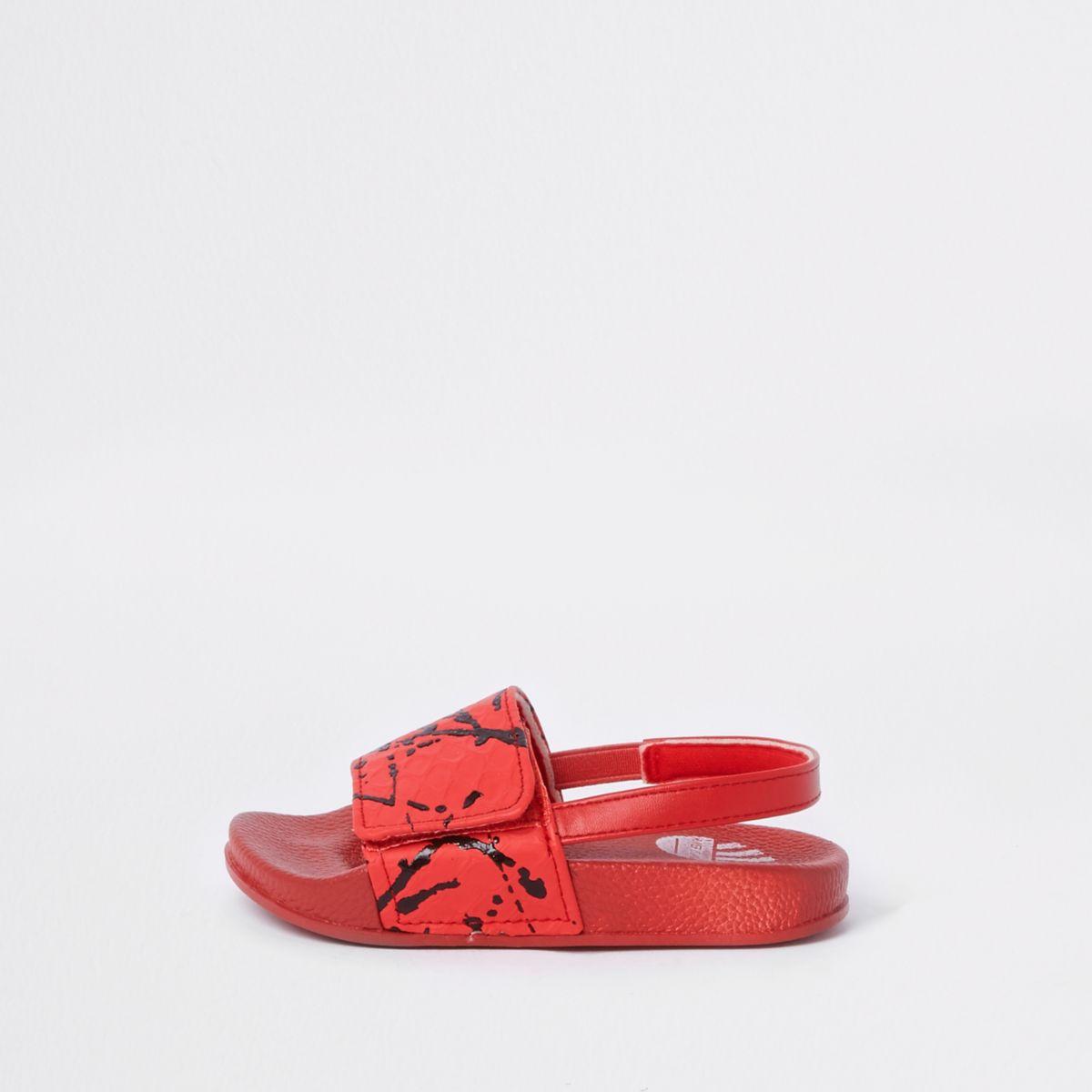 Mini boys red paint splatter sliders