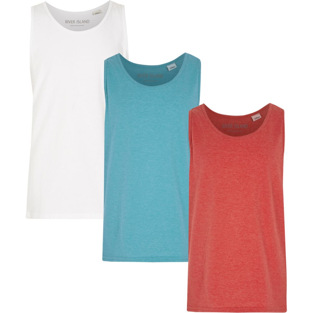 Boys white tank multipack