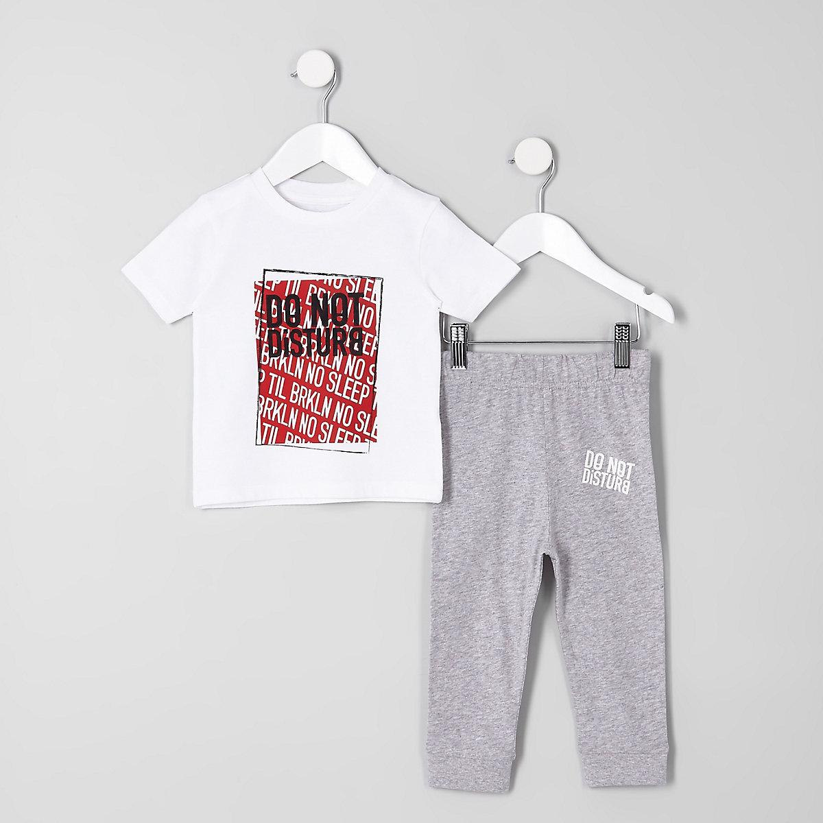 Mini boys 'do not disturb' pajama set